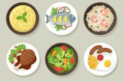 دانلود وکتور ظروف غذاهای مختلف